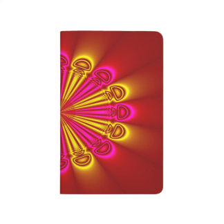 Abstract Design Pink And Yellow Rays Journal