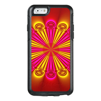 Abstract Design Pink And Yellow Rays OtterBox iPhone 6/6s Case