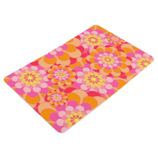 Abstract Design Pink Floral Floor Mat