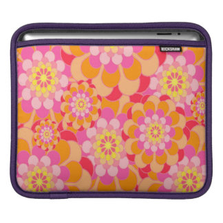 Abstract Design Pink Floral iPad Sleeve