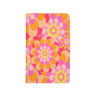 Abstract Design Pink Floral Journals