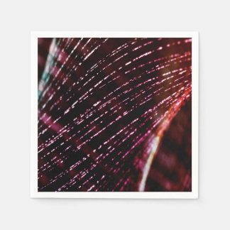 Abstract Design Purple And Silver Glitter Spray Disposable Napkins