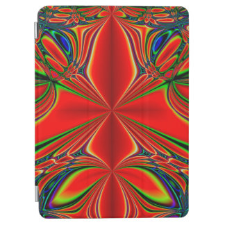 Abstract Design Red And Green iPad Air Cover