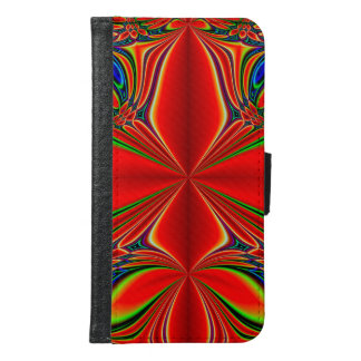 Abstract Design Red And Green Samsung Galaxy S6 Wallet Case