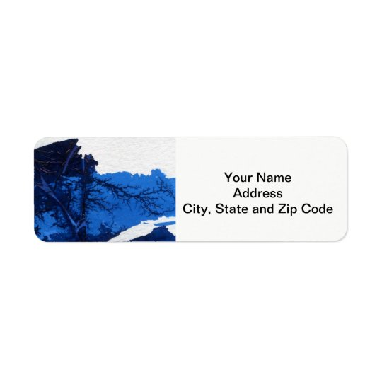 Abstract design return address label, mountain.
