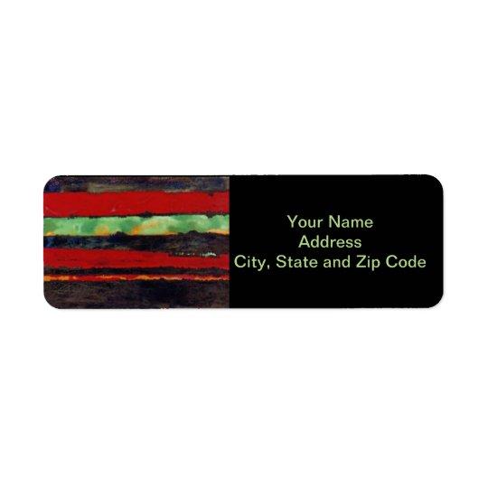 Abstract design return address label, stripes. return address label