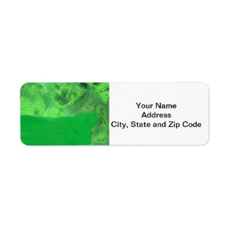 Abstract design return address label, table rock.