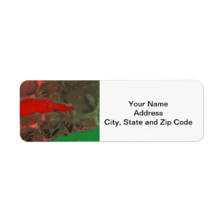 Abstract design return address label, tower.