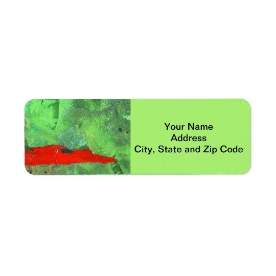 Abstract design return address label, tower. return address label