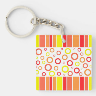 Abstract design Single-Sided square acrylic key ring