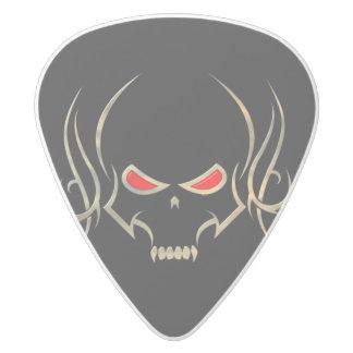Abstract Design Skull Guitar Picks White Delrin Guitar Pick