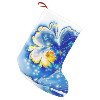 abstract design spiral flower fractal small christmas stocking