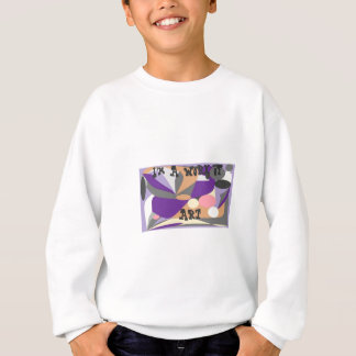 Abstract design sweatshirt