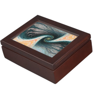 abstract design waves keepsake box