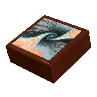 abstract design waves large square gift box