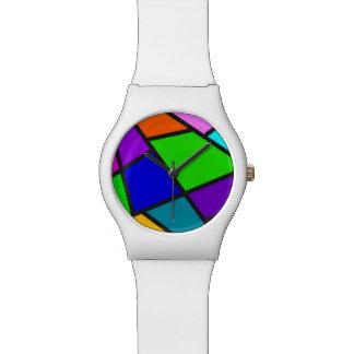 Abstract design wrist watch