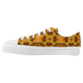 Abstract Designed Low Tops - Shoes Printed Shoes