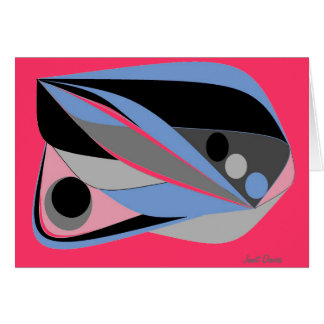 Abstract designs greeting card