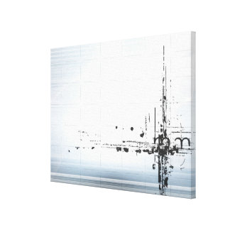 Abstract designs on grid canvas print