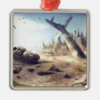 Abstract Destruction Lost Fortune Copter Ornaments