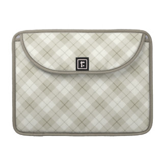 Abstract Diagonal Scottish Plaid Sleeves For MacBooks