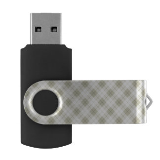 Abstract Diagonal Scottish Plaid USB Flash Drive