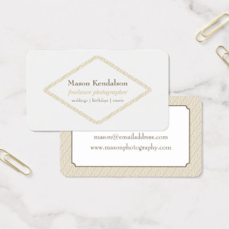 Abstract Diamond Freelance Photographer Business Card