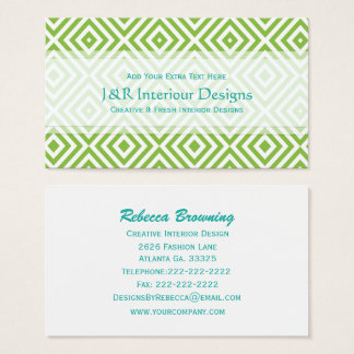 Abstract Diamond Print Business Cards