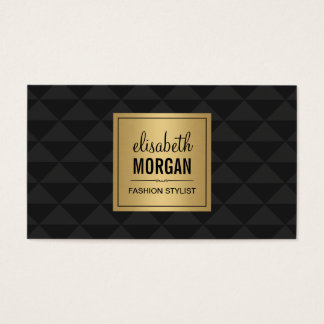 Abstract Diamond Style - Elegant Luxury Black Gold