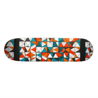 Abstract Diamond Windowpane Mosaic Graphic Pattern Skate Board Deck