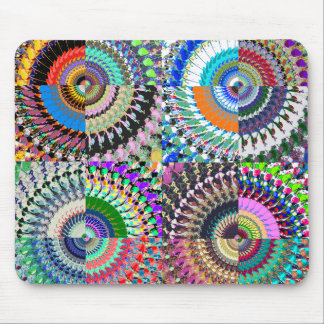 Abstract Digital Art Collage Mouse Pad