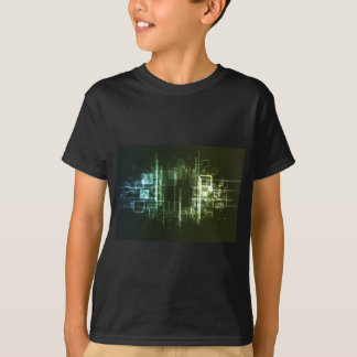 Abstract Digital Background Tee Shirt