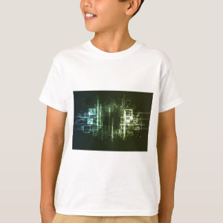 Abstract Digital Background Tshirt
