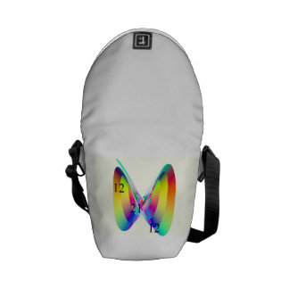Abstract Digital Butterfly Bag Commuter Bags