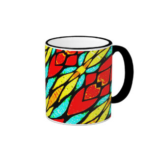 Abstract Digital Multicolor Chains Art Mugs