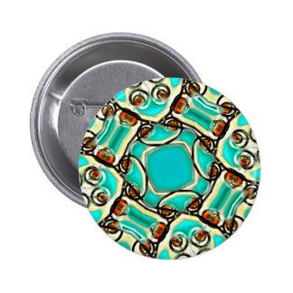 Abstract Digital Ornament 6 Cm Round Badge
