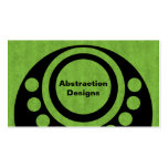 Abstract Dimensions Business Card, Bright Green