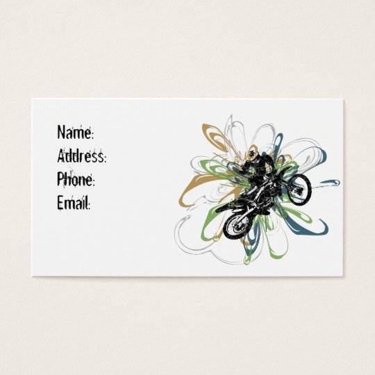 Abstract Dirt Bike Business Cards