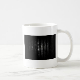 Abstract Distressed Black and White Lines Basic White Mug