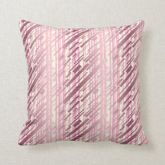 ABSTRACT DISTRESSED STRIPES, Lavender Purple Throw Pillow