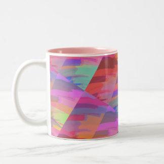 Abstract Do It Yourself Two-Tone Mug