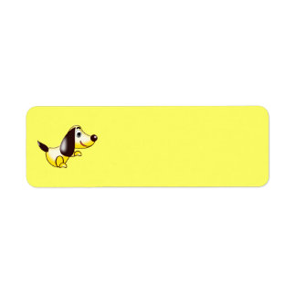 abstract dog Avery Label Return Address Label
