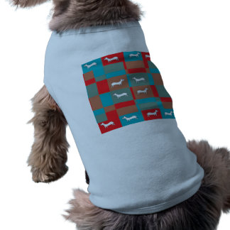 Abstract Dog Design Shirt Sleeveless Dog Shirt