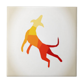 Abstract dog.jpg small square tile