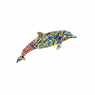 Abstract Dolphin Cutout Magnet/key/ornament Standing Photo Sculpture