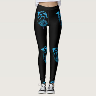 Abstract Dolphin Leggings