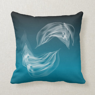 Abstract  Dolphins at Play American MoJo Throw Cushion