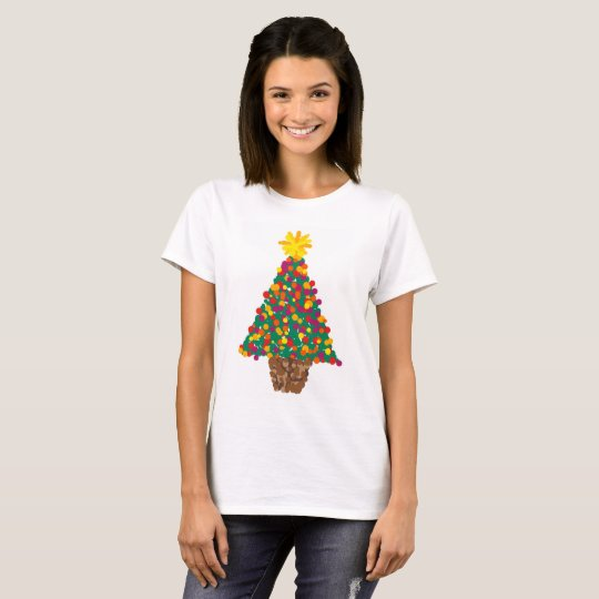 Abstract dot christmas tree t-shirt