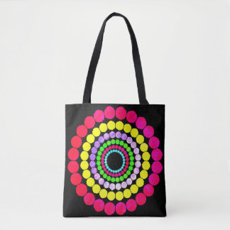 Abstract Dots Pattern Tote Bag