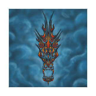 Abstract Dragon Canvas Print